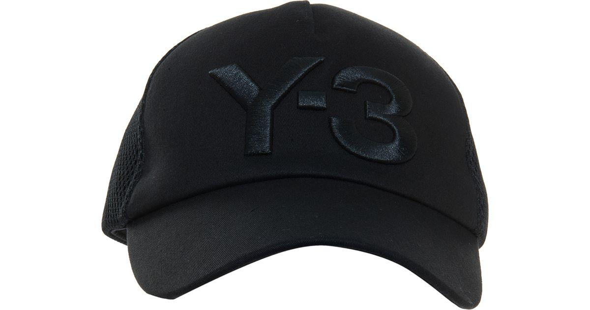 Lyst - Y-3 Truck Cap in Black for Men ab5dc890e64