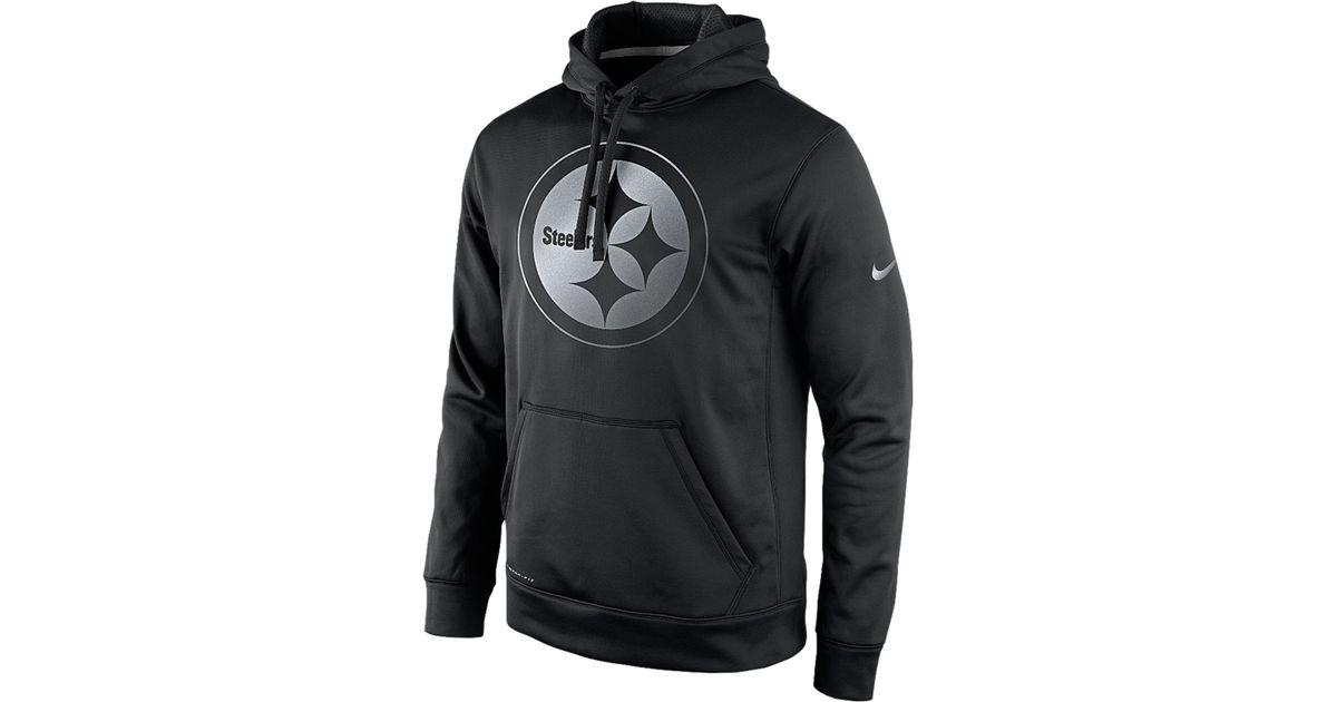 Lyst - Nike Men S Pittsburgh Steelers Reflective Ko Hoodie in Black for Men 3ab98fdfb