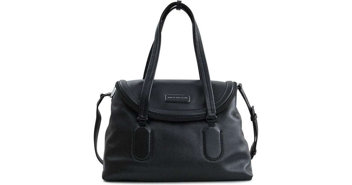 237af6e849 Marc By Marc Jacobs Silicone Valley Satchel Bag in Black - Lyst