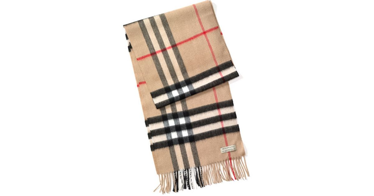 burberry heritage check scarf for lyst