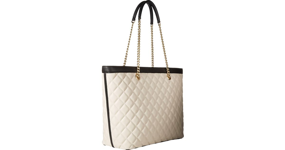 Moschino quilted chain shoulder bag - White rvyVqU