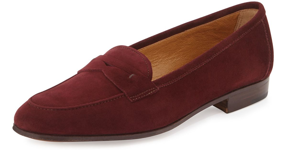20c766670ab Lyst - Gravati Suede Penny Loafers in Purple
