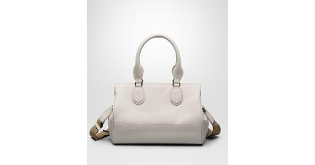 d952d68eefb4 Bottega Veneta Mist New Calf Ducale Bag in Gray - Lyst