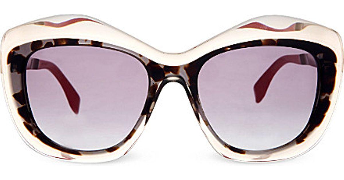 a3757a6ad8d9 Lyst - Fendi Ff0029 Cat Eye Sunglasses in Gray
