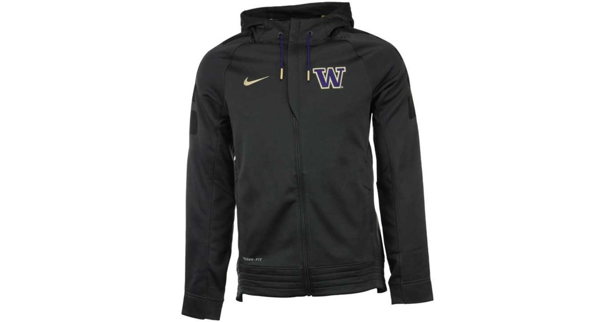 2cdaffae88f1 Lyst - Nike Men s Washington Huskies Elite Stripe Full-zip Hoodie in Gray  for Men