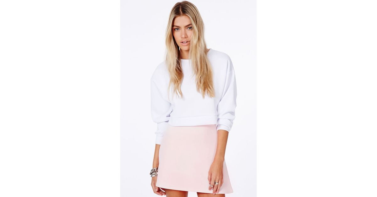 Missguided Lubiana Baby Pink A-Line Mini Skirt in Pink | Lyst