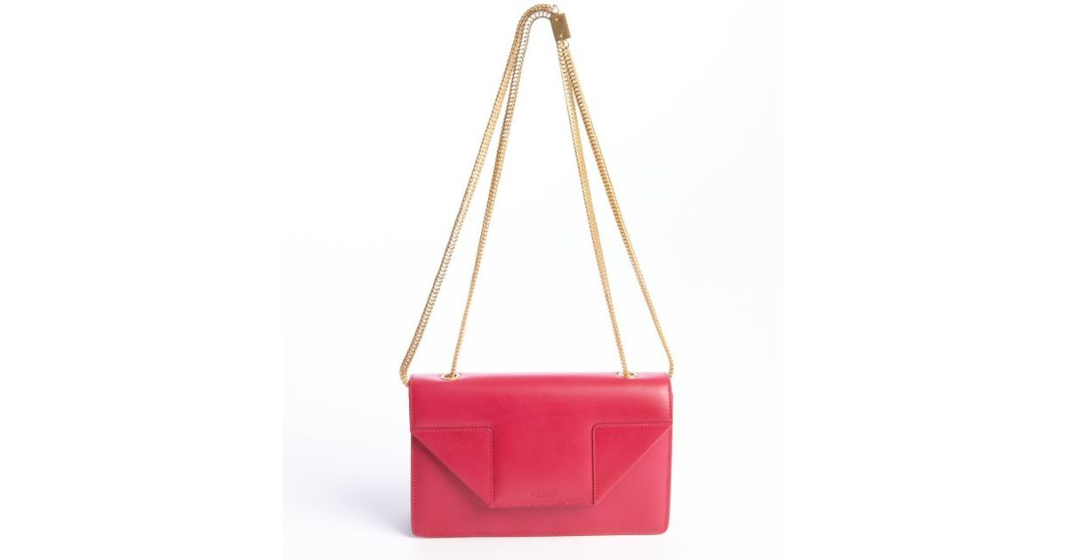 ysl crossover bag - monogram medium chain shoulder bag, fuchsia