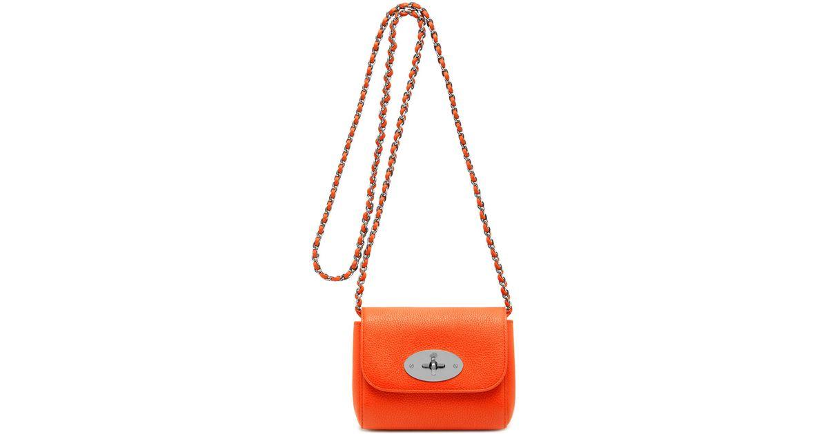 effd25e6611 ... spain lyst mulberry mini lily in orange 0cc71 15e3f