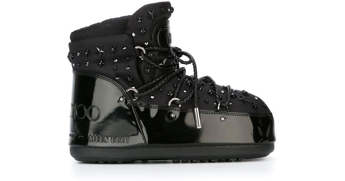 f3d7f7b8445 Lyst - Jimmy Choo X Moon Boot  buzz  Boots in Black