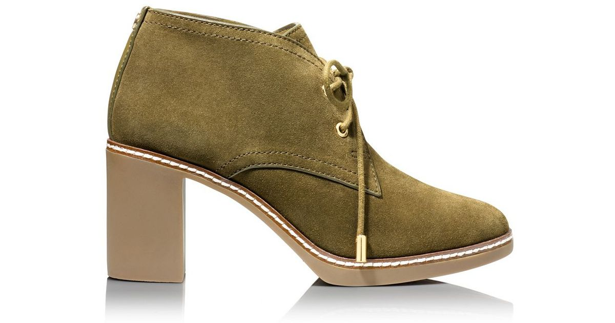 4c34896bfd1 Lyst - Tory Burch Hilary Bootie in Natural
