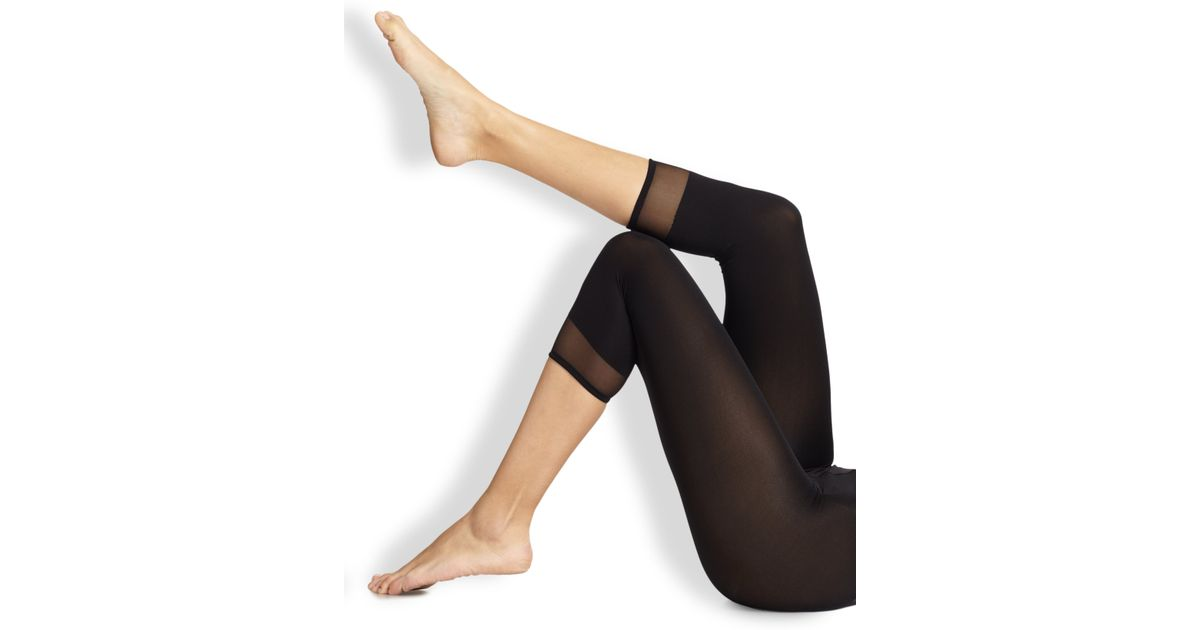 Wolford Purist Capri Leggings in Black | Lyst