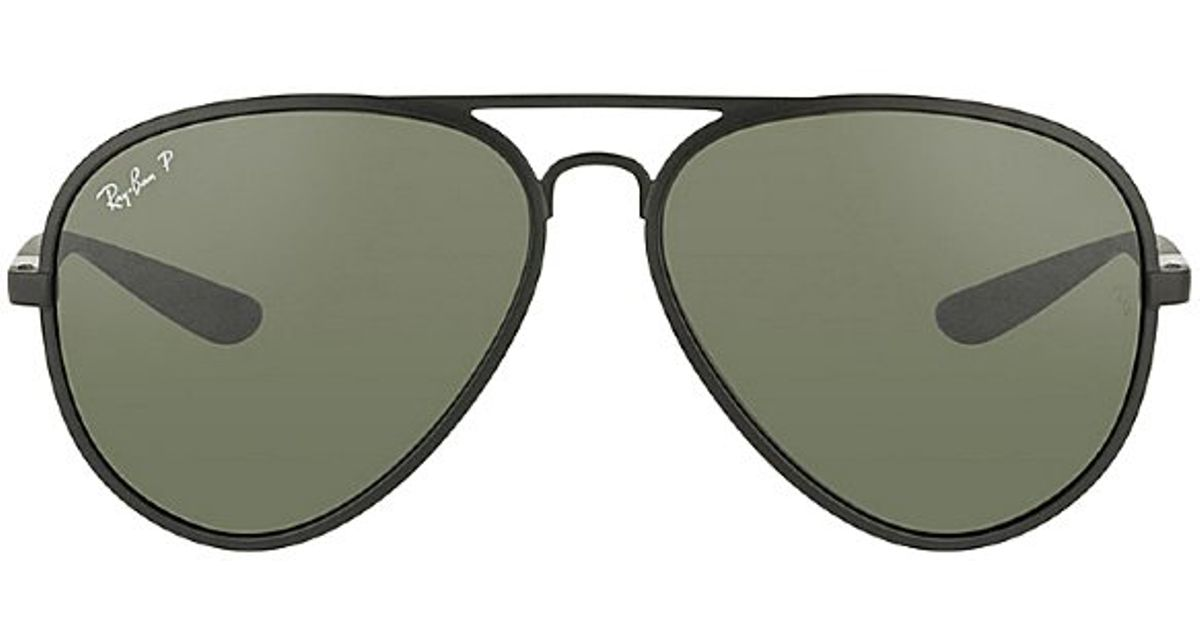 d350a342fdb ... norway lyst ray ban tech liteforce rb 4180 601s9a matte black aviator  plastic sunglasses in black