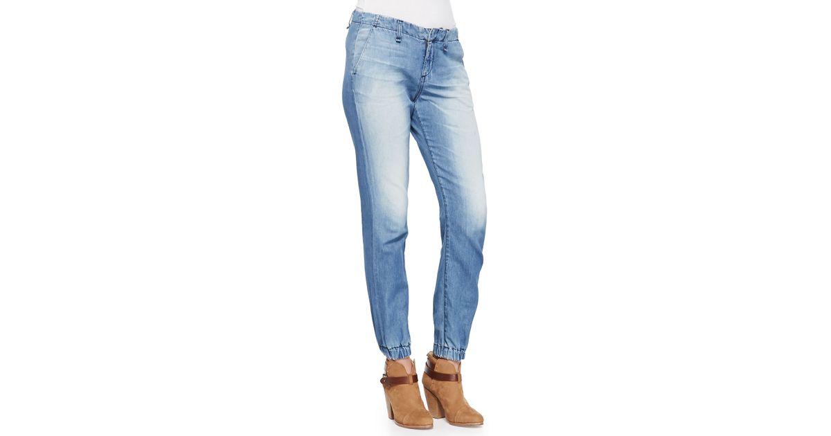 f436b0ffb2a8 Rag & Bone Faded Denim Elastic-Cuff Jeans in Blue - Lyst