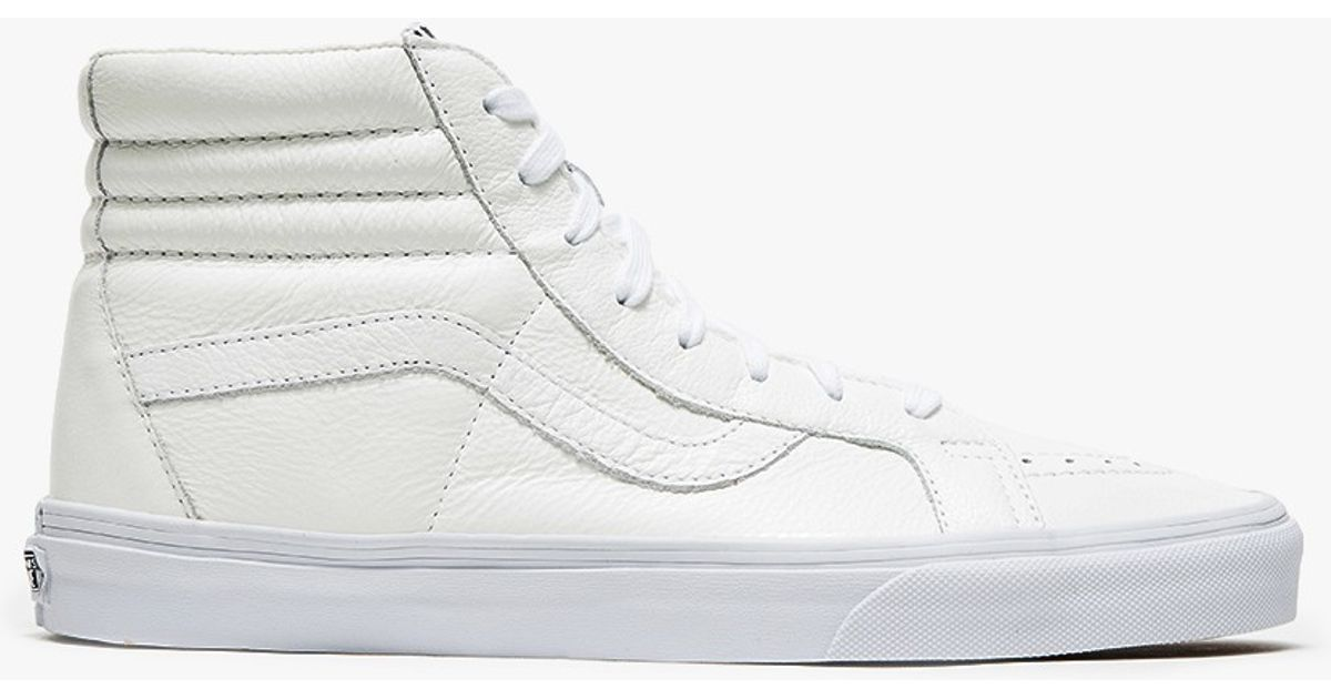b8ab992ad1 Lyst - Vans Sk8-hi Reissue Premium Leather in White for Men