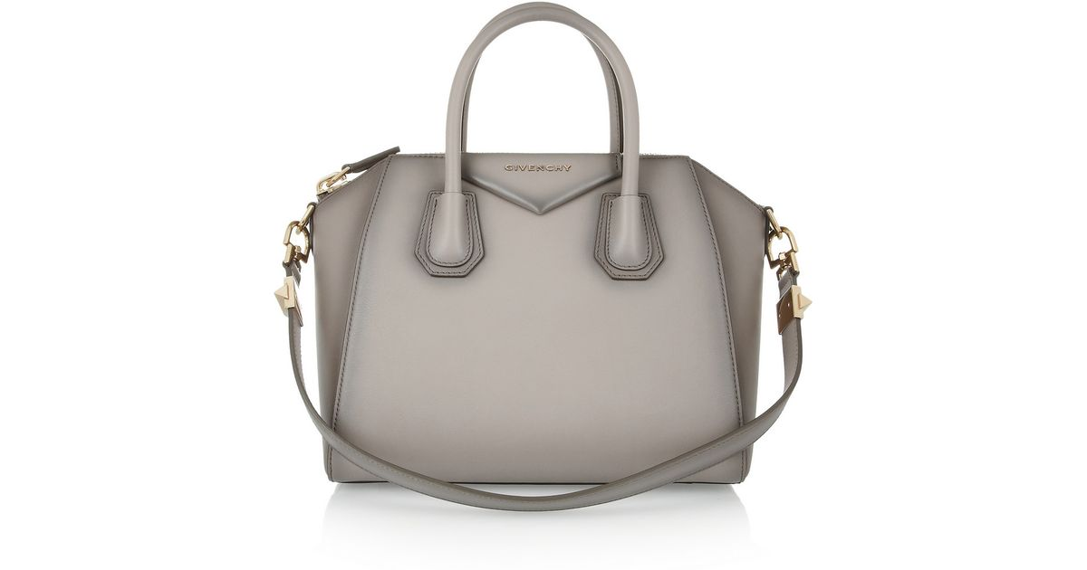 be904a7254 Lyst - Givenchy Small Antigona Bag in Mushroom Leather in Gray