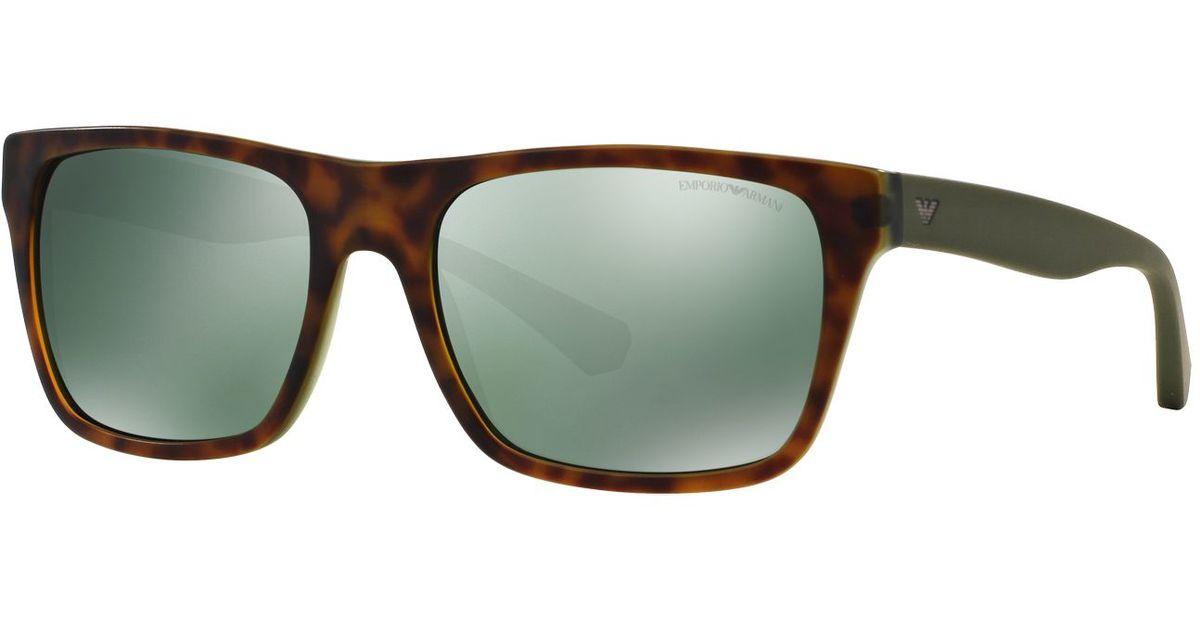 c60d0848e945 Lyst - Emporio Armani Sunglasses in Brown for Men