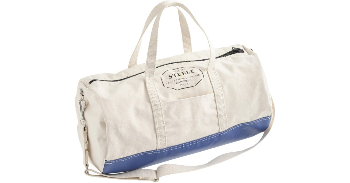Lyst - J.Crew Steele Canvas Basket Corp.™ Steeletex™ Gym Bag in Blue for Men 3402712c9a