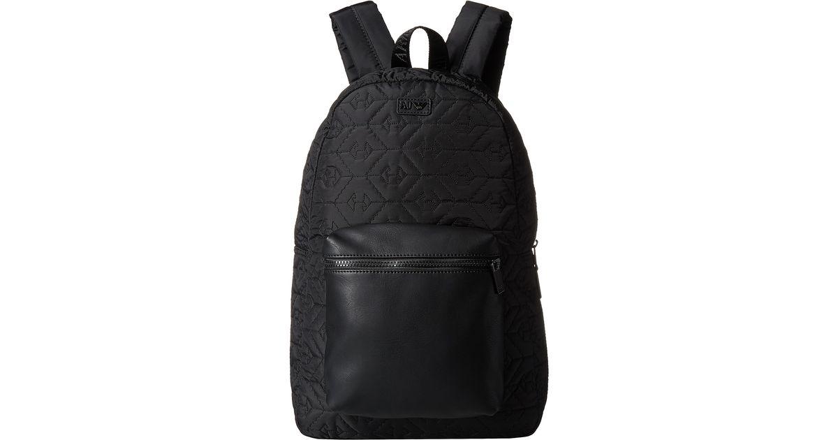 Lyst - Armani Jeans All-over Eagle Logo Backpack in Black for Men 945678cd88