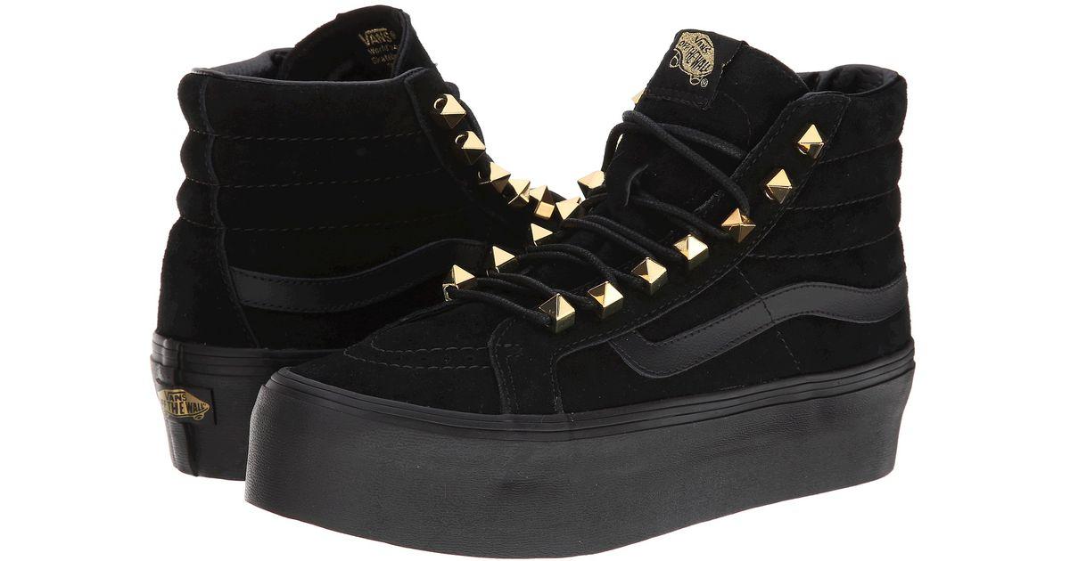 vans black sk8 hi