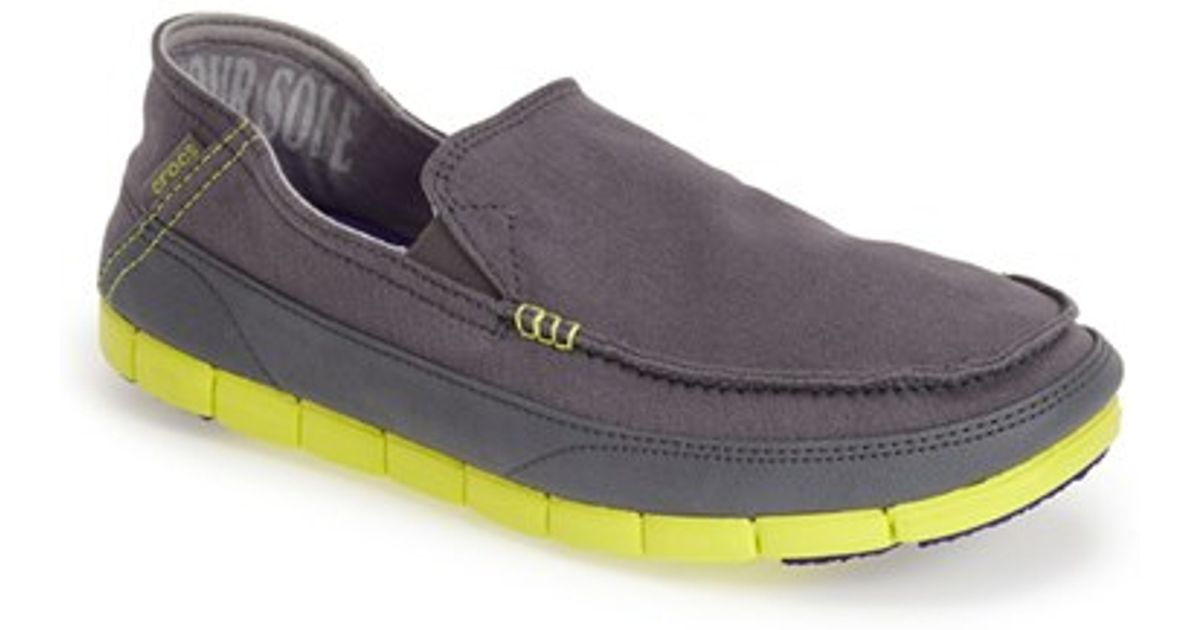 50e267036d3 Lyst - Crocs™ Crocs(tm) Stretch Sole Loafer in Gray for Men