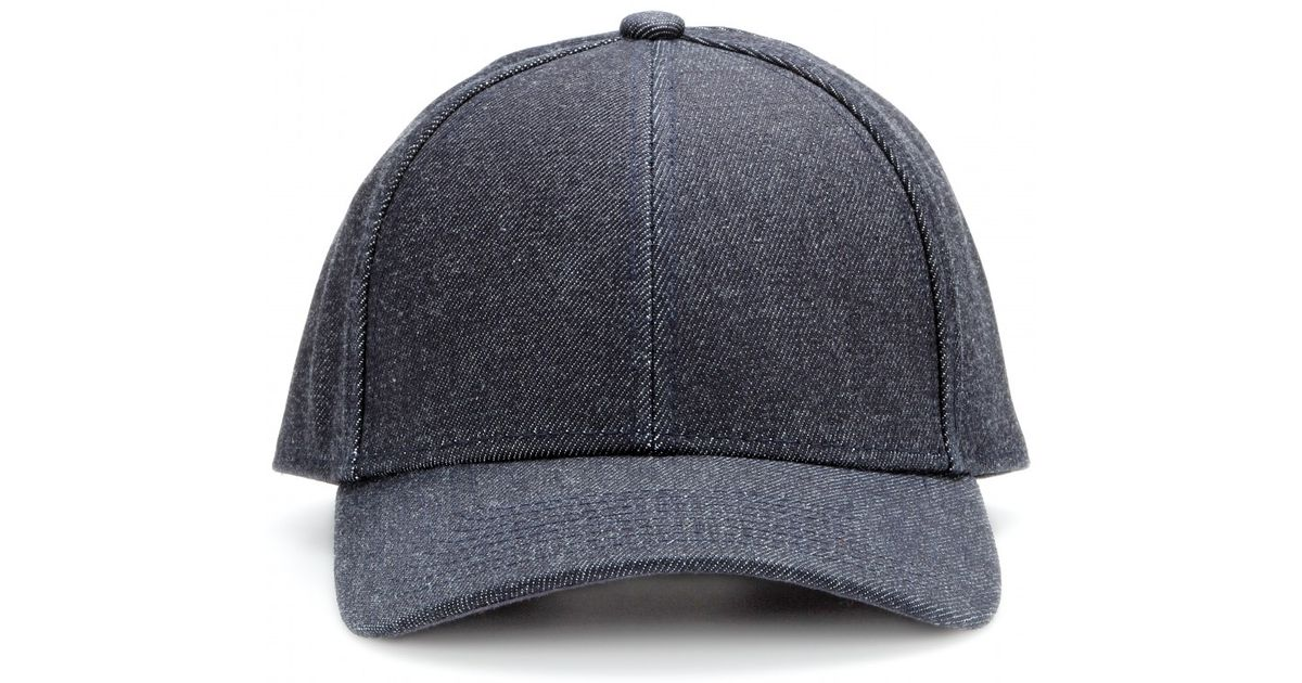 Lyst - Acne Studios Camp Denim Baseball Cap in Blue 96ce7622d15