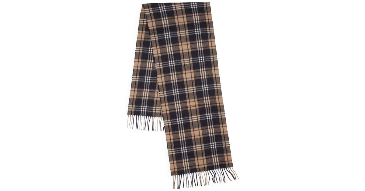 7021e753f760 Burberry Classic Cashmere Scarf In Blue · Blue Cashmere Scarf: Saks Fifth  Avenue Plaid Cashmere Scarf In Blue For Men