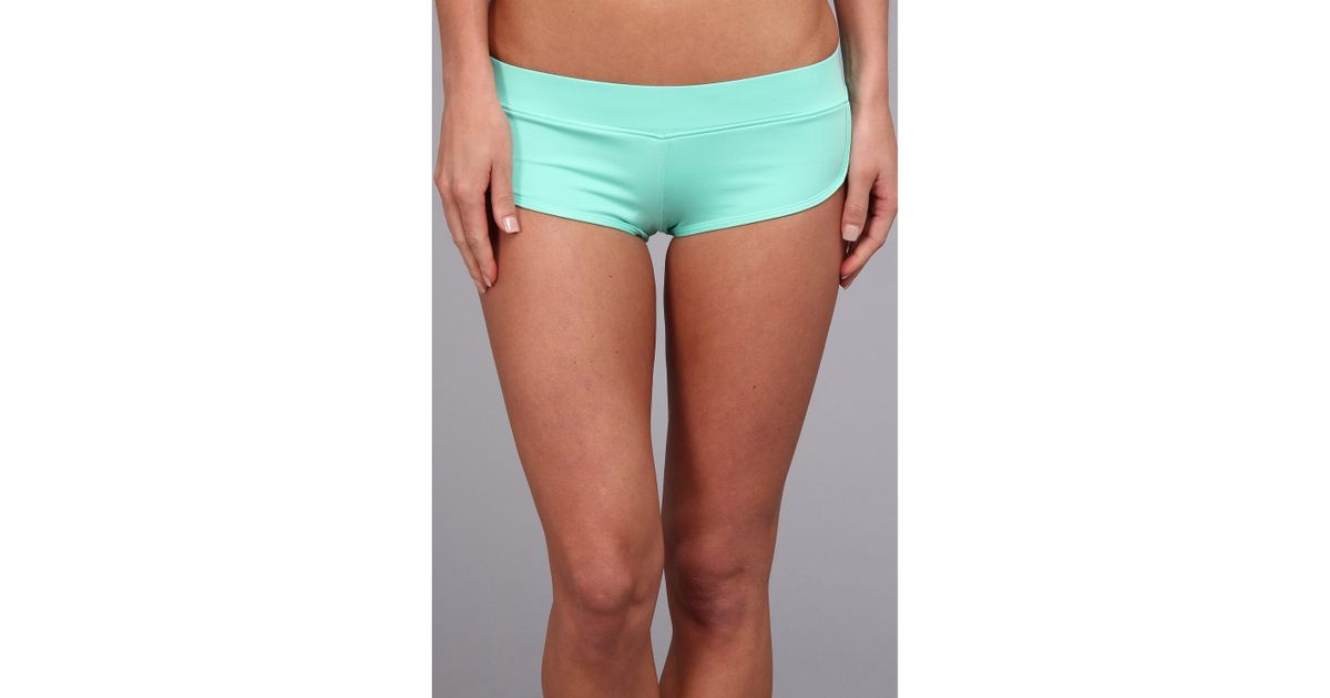 69e4c0c88ab0 Volcom Simply Solid Bikini Boardie in Green - Lyst