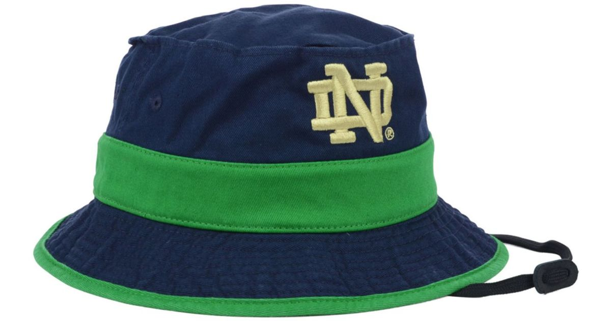 e762a9f13a5 Lyst - adidas Notre Dame Fighting Irish Cord Bucket Hat in Blue for Men