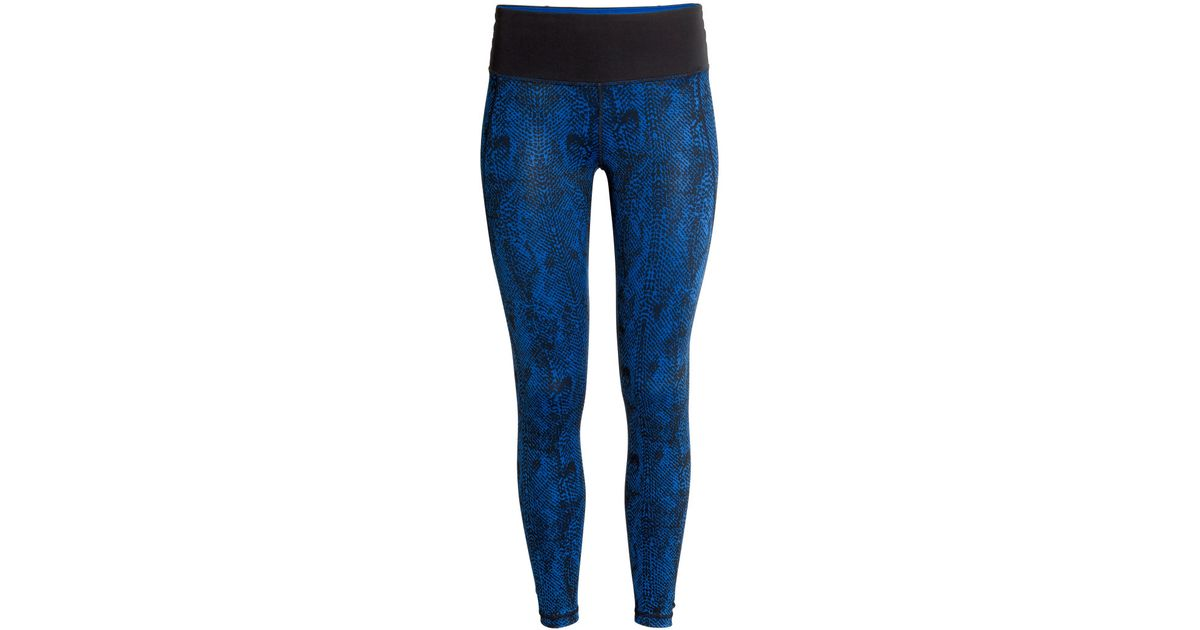 h m sports tights in blue lyst. Black Bedroom Furniture Sets. Home Design Ideas
