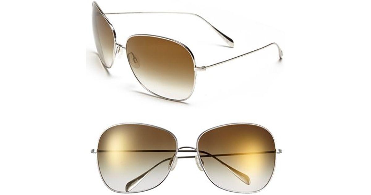 56b76a551d Lyst - Oliver Peoples  elsie  64mm Metal Sunglasses in Metallic