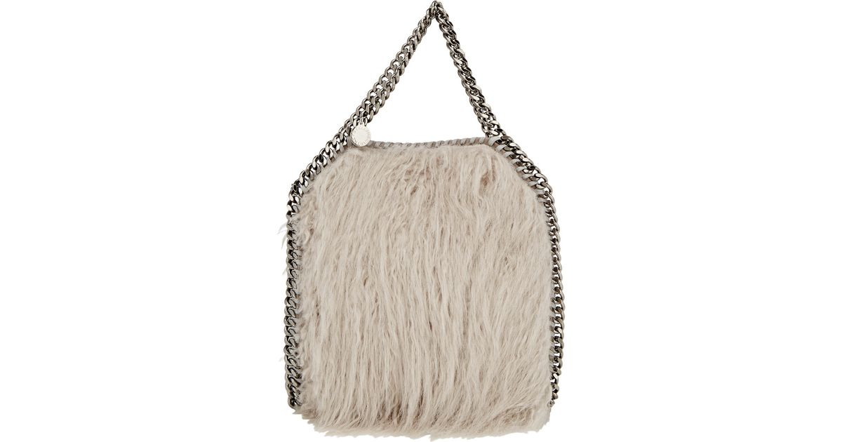 Stella McCartney - Gray Faux-fur Falabella Mini-tote - Lyst 07d0a64b31198