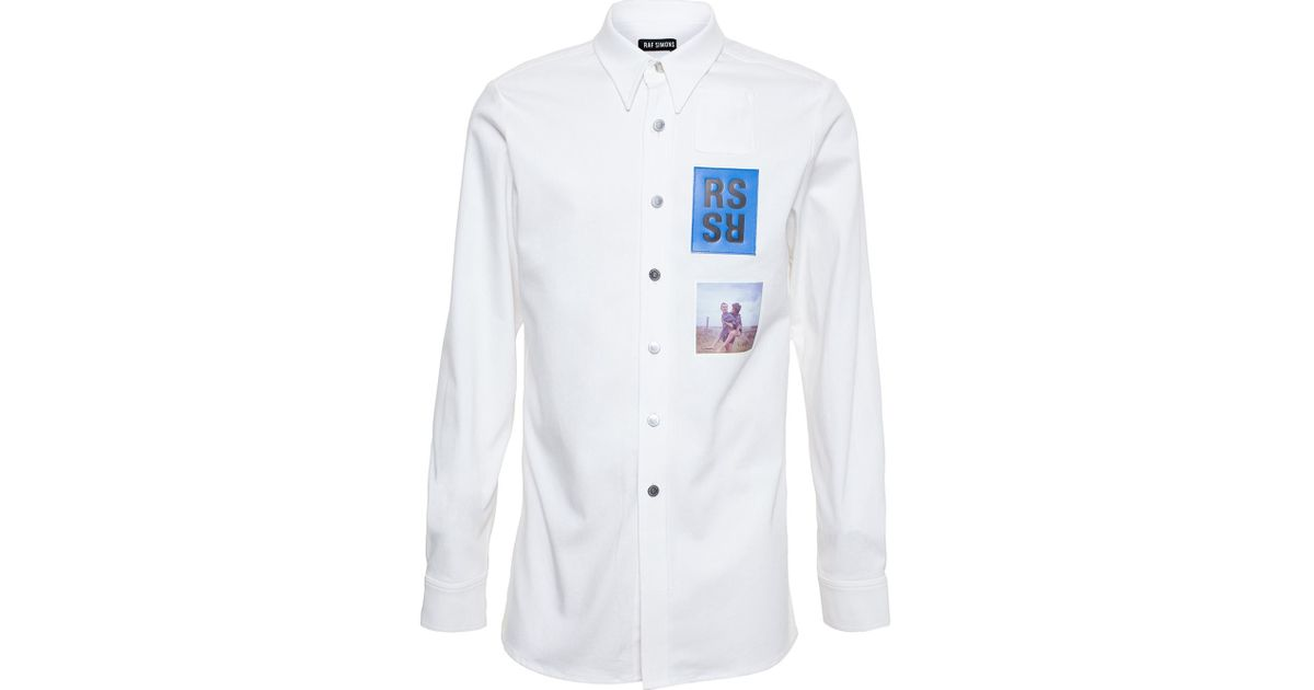 58baa8833d7 Raf Simons  Mum And Dad  Shirt in White for Men - Lyst