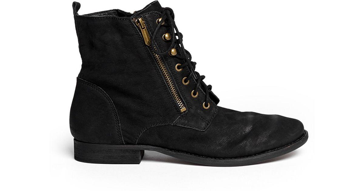 d75cddbdc6356 Lyst - Sam Edelman  mackay  Nubuck Leather Boots in Black
