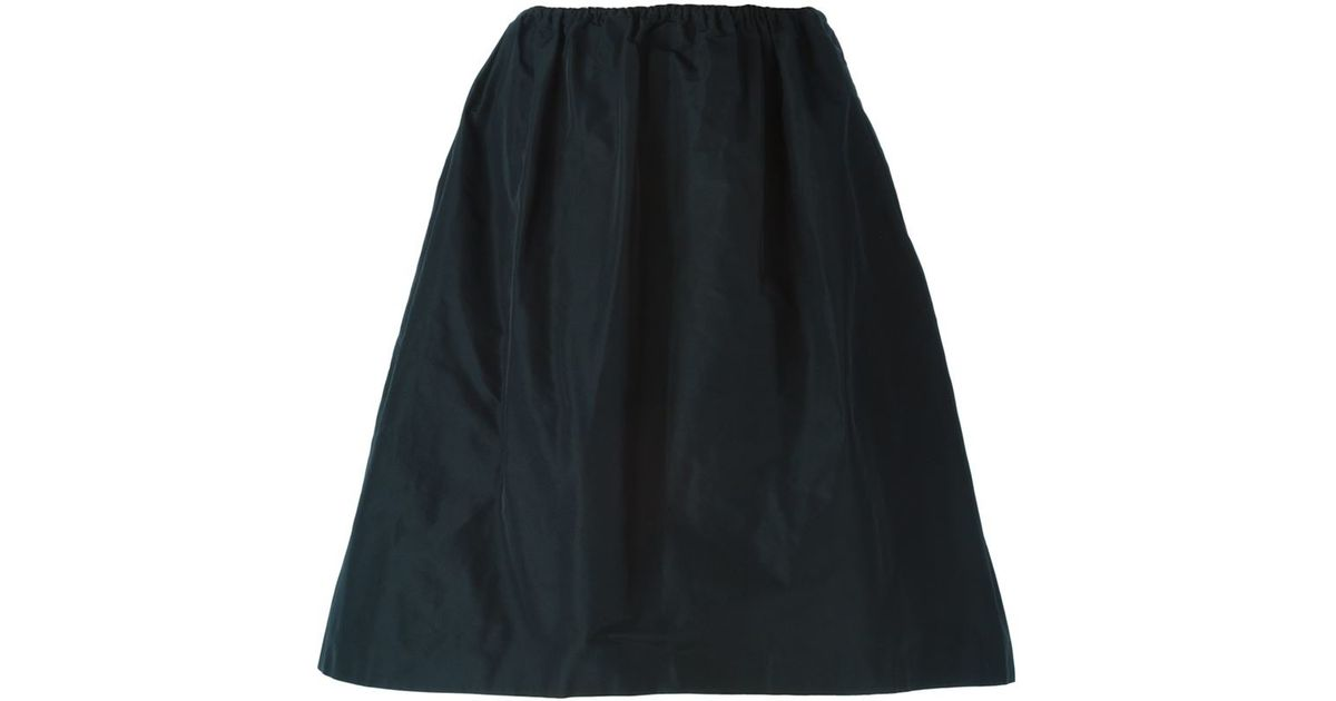 jil sander navy high waisted skirt in blue save 60