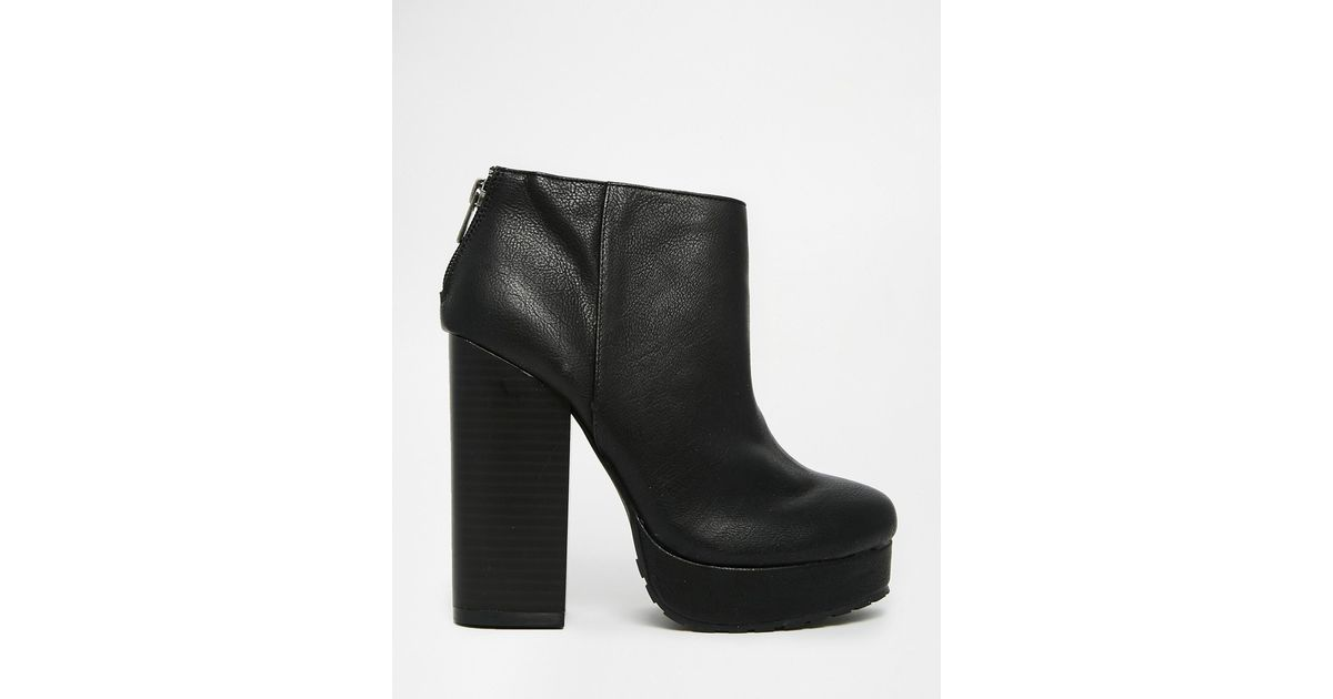 cdcda23698ec Lyst - Call It Spring Leawen Black Block Heel Shoe Boots in Black