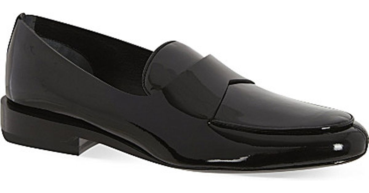 53678074754 Lyst - Jil Sander Patent Leather Loafers in Black