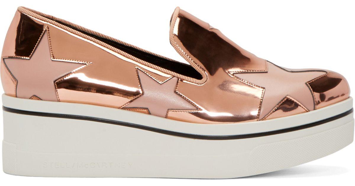 c3b7af7b8c27 Lyst - Stella McCartney Copper Star Platform Binx Sneakers in Metallic