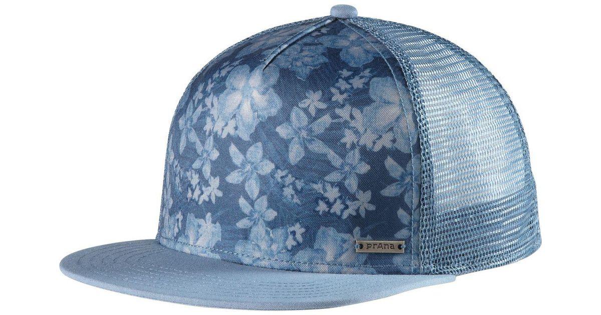 360b50b8fc Lyst - Prana Vista Trucker Hat in Blue for Men