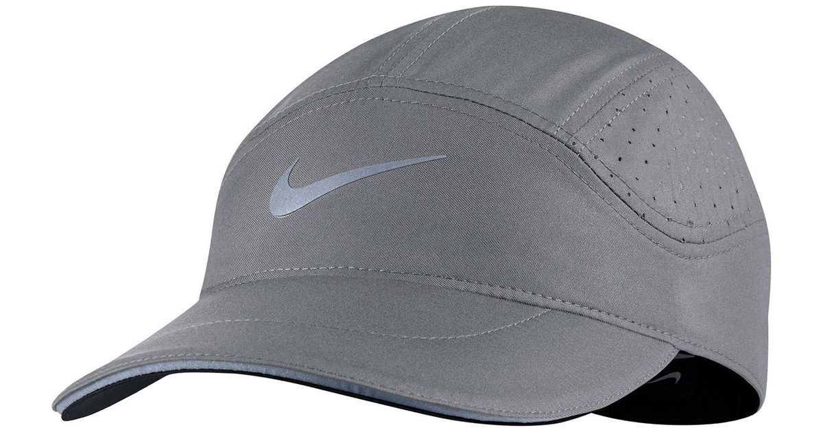 6337eb93b2988 ... get lyst nike aerobill elite running hat in gray for men 89735 b32c2