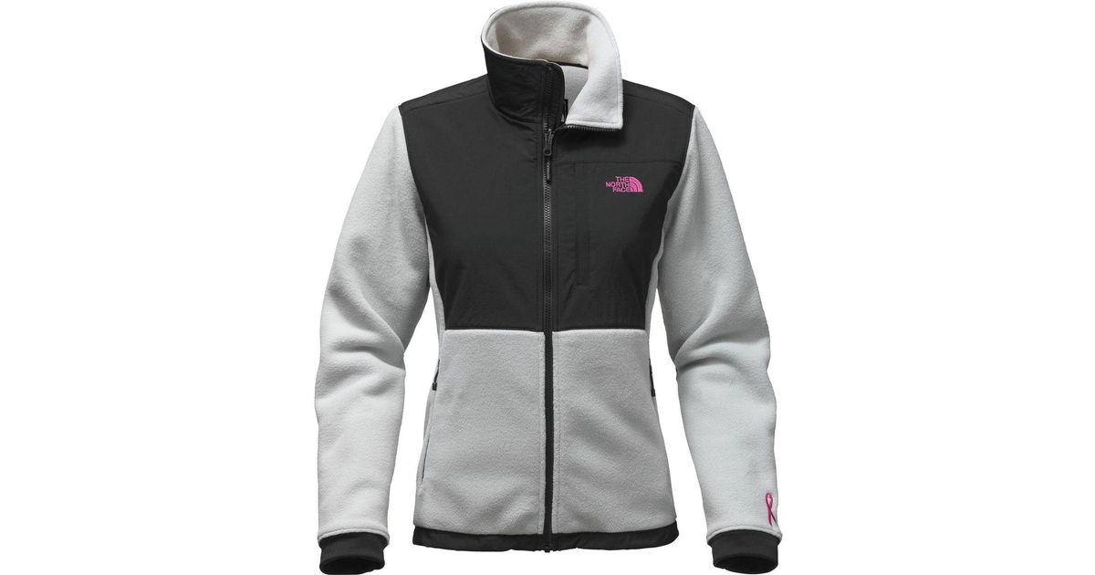 69e967db6 The North Face - Gray Pink Ribbon Denali 2 Jacket - Lyst