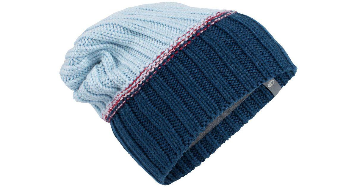 0ea816649f3 Lyst - Icebreaker Altitude Slouch Beanie in Blue