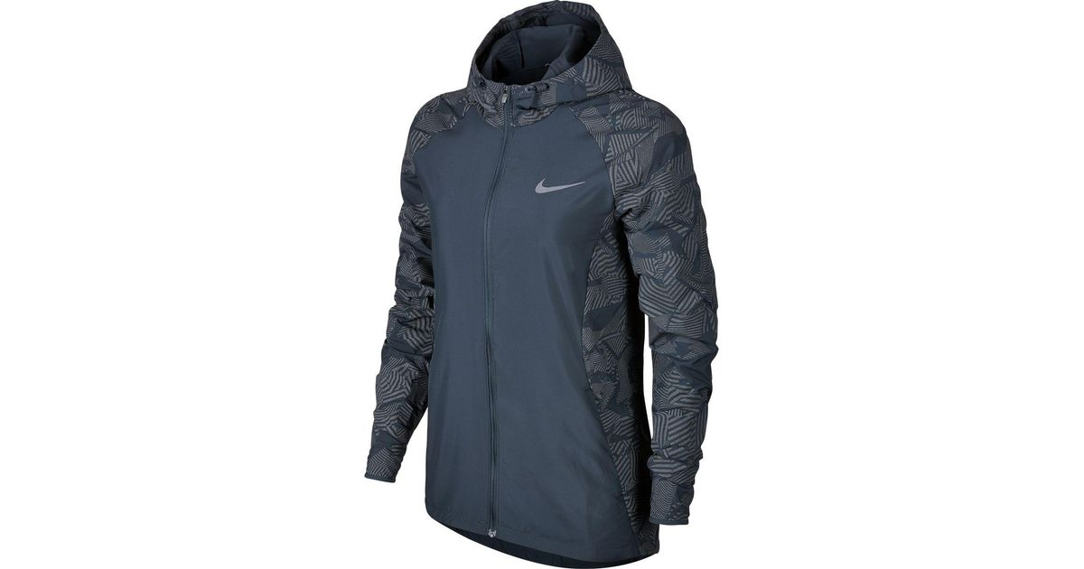 85d0806832 Lyst - Nike Flash Essential Hooded Jacket in Blue