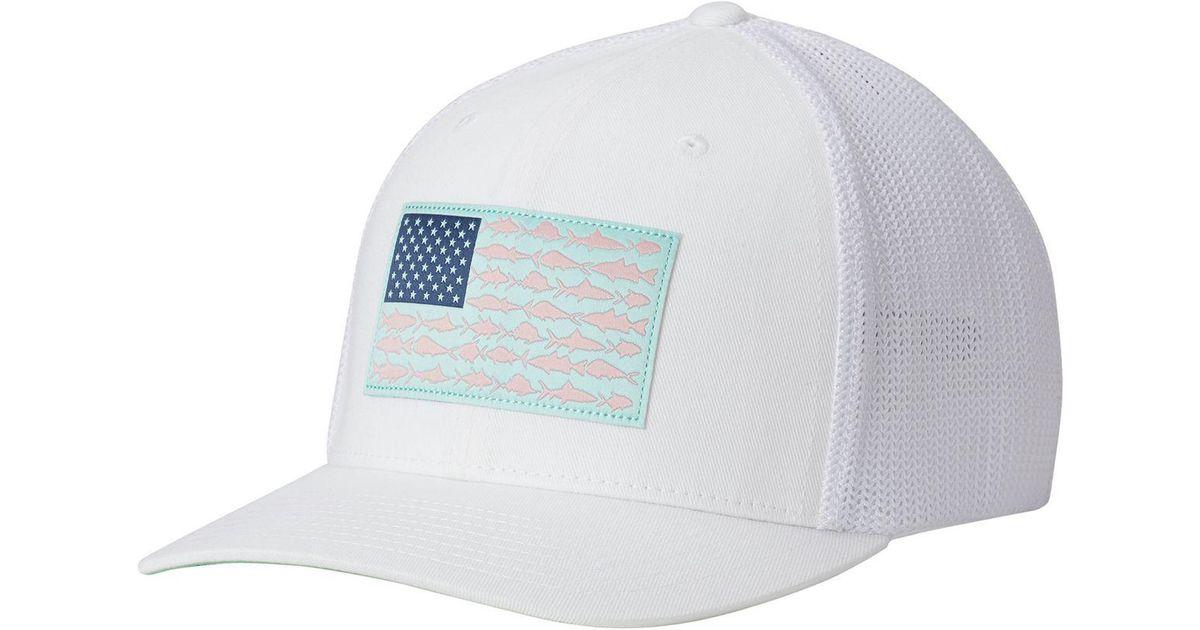 e72473b8ef9 Lyst - Columbia Pfg Mesh Trucker Hat in White for Men