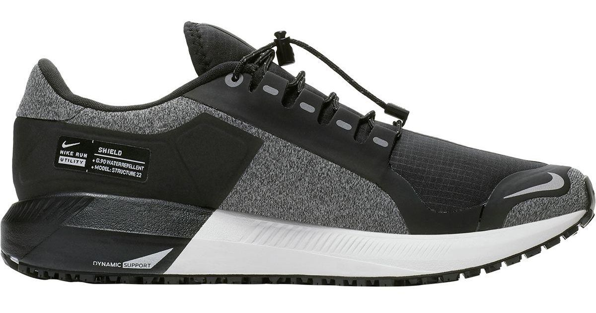 e6439a2b457a Lyst - Nike Air Zoom Structure 22 Shield Running Shoe in Gray