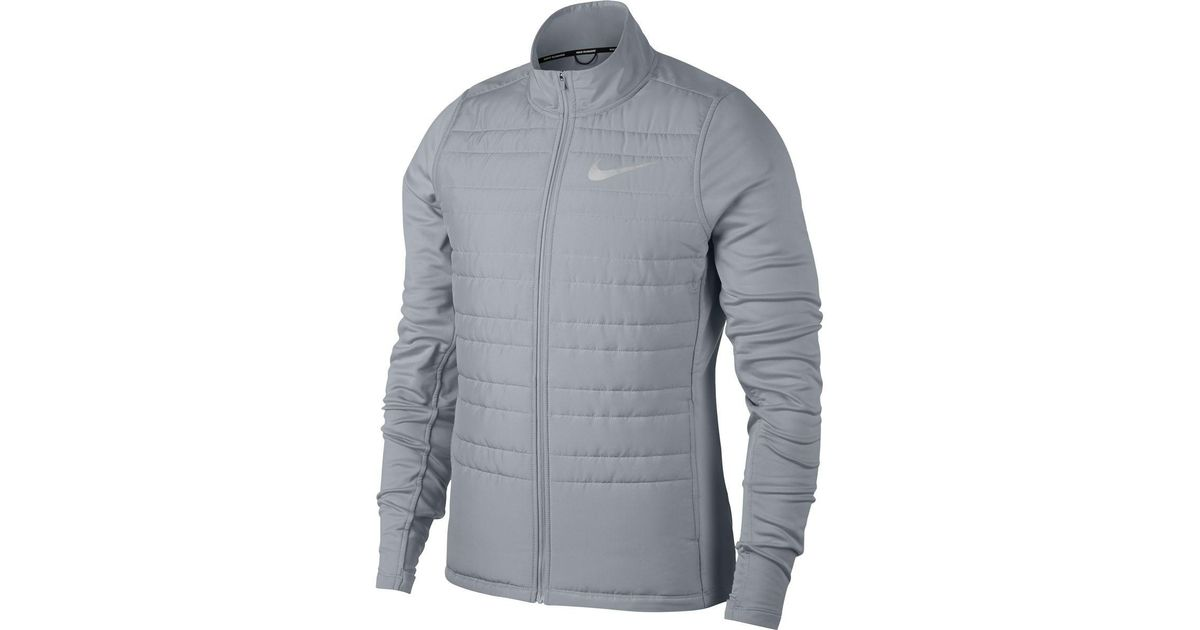 912ff44c4165 Lyst - Nike Essential Insulated Running Jacket in Gray for Men