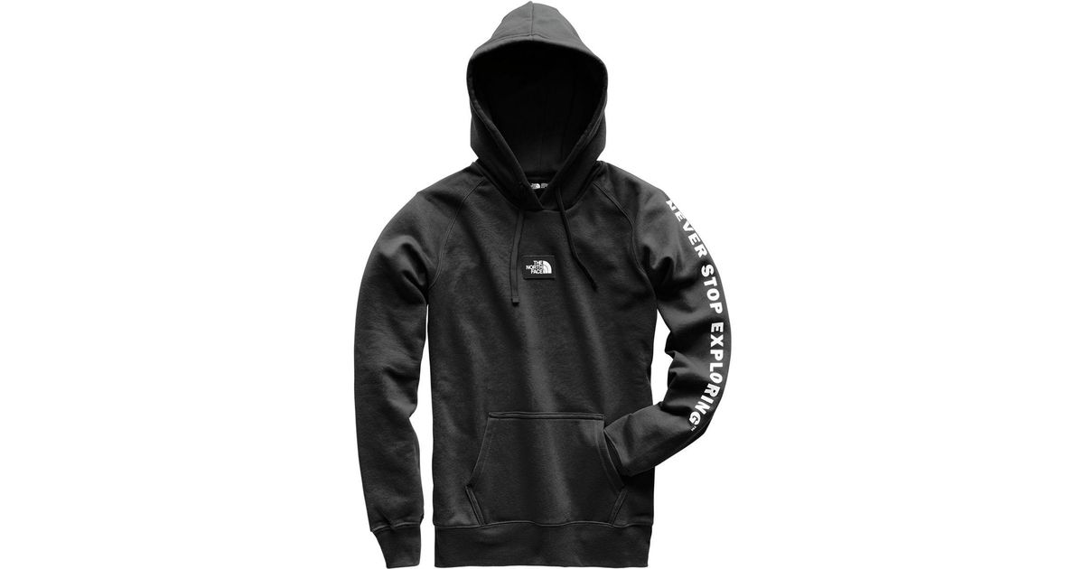Lyst - The North Face Patches Pullover Hoodie in Black for Men e720e1bd9