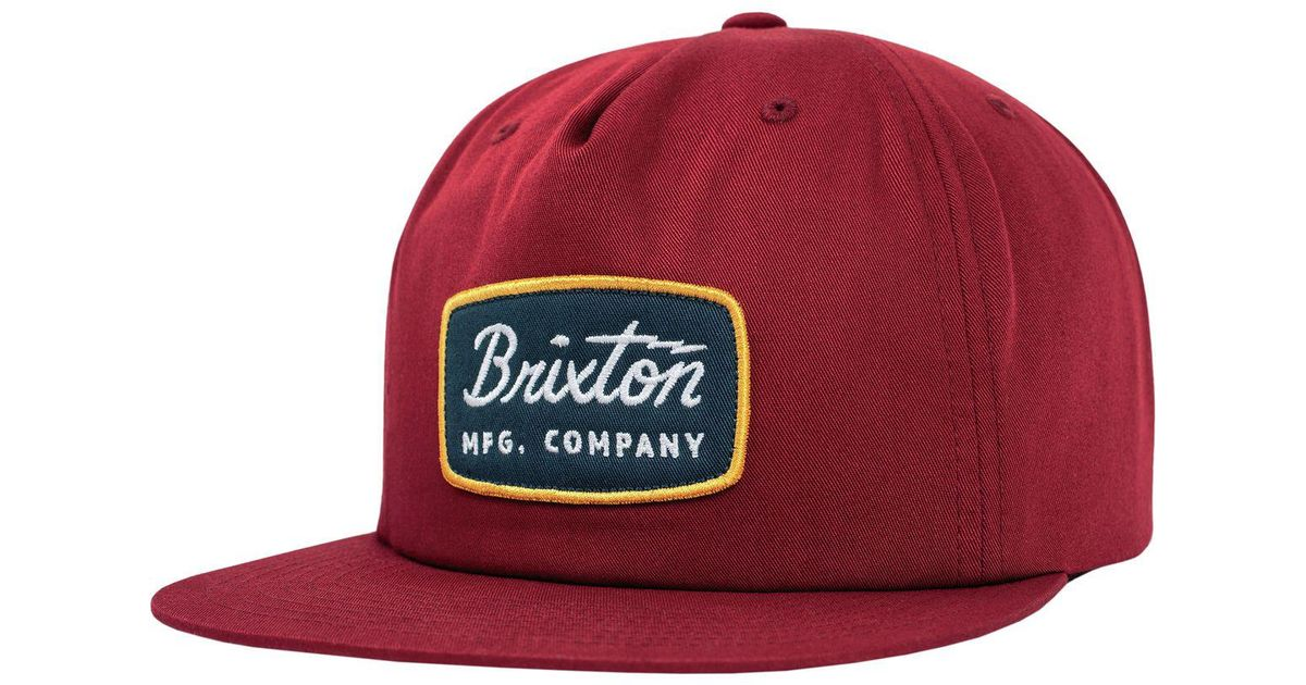 5d09f1186a72f ... new style lyst brixton jolt hp snapback hat in red for men ded17 15cb8
