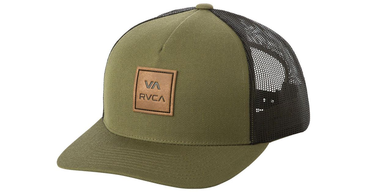 26cd997249d101 RVCA Va All The Way Curved Brim Trucker Hat in Green for Men - Lyst