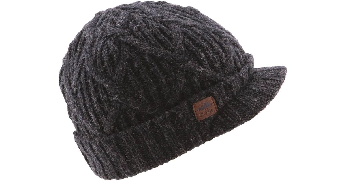 Lyst - Coal Yukon Brim Beanie in Black 506cde33b87