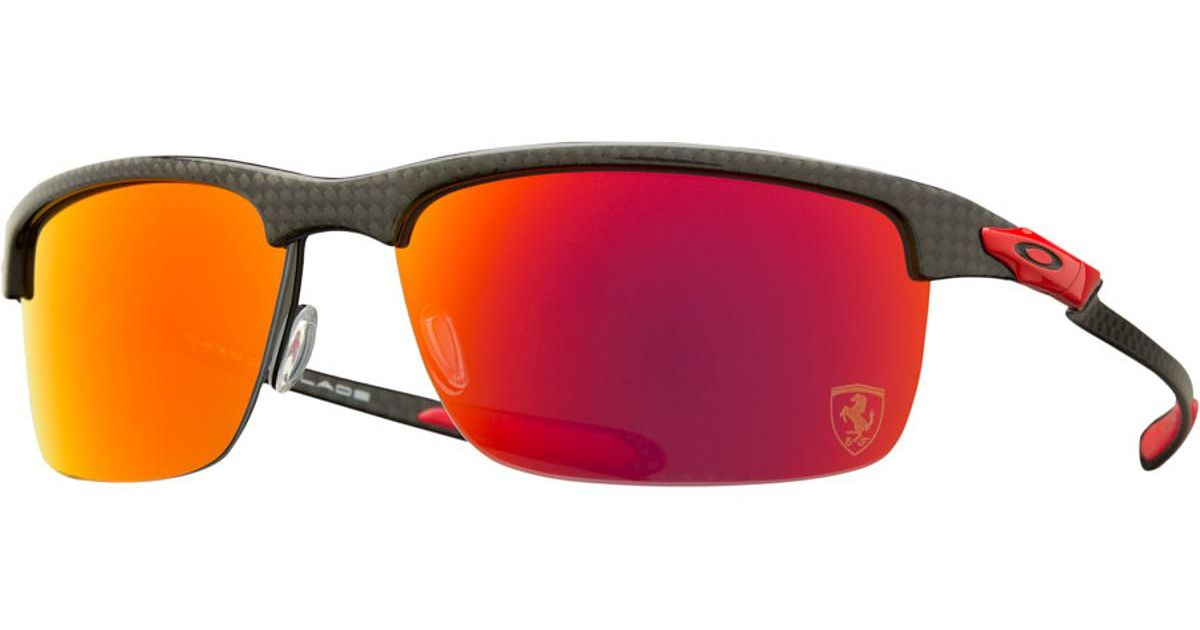 5e7a160011 ... where to buy lyst oakley limited edition ferrari carbon blade polarized  sunglasses in red for men